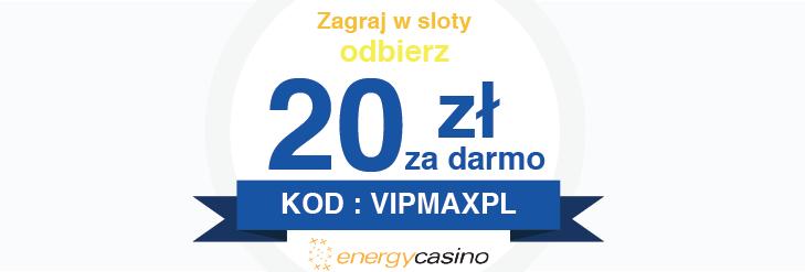 Kasyno Online na prawdziwe pieniądze - Odbierz bonus bez depozytu na start w Energy Casino