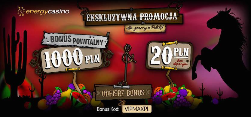 Wykorzystaj kod promocyjny w Energy Casino i odbierz eksluzywne bonusy na start
