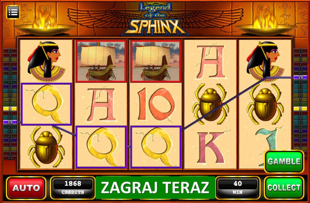 Zagraj w automaty online - Legend of the Sphinx