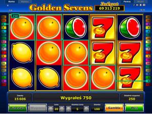 Automaty owocówki na pieniądze online - wygrana w Golden Sevens
