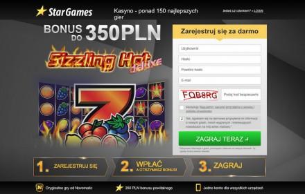 Casino StarGames opinie + bonus powitalny 350 PLN + darmowe starsy