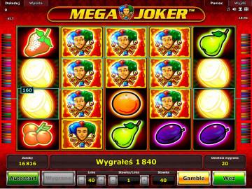 Mega Joker wygrana