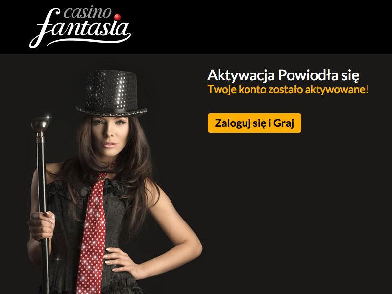 Aktywacja konta w Casino Fantaia - krok 4