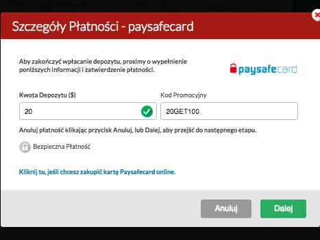 PRosta i szybka wpłata za pomocą karty paysafecard