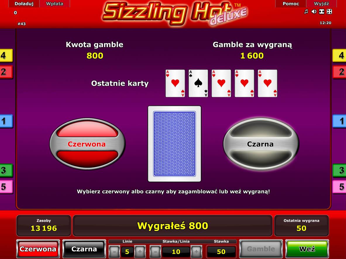 Opcja Gamble podwoi Twoją wygraną.