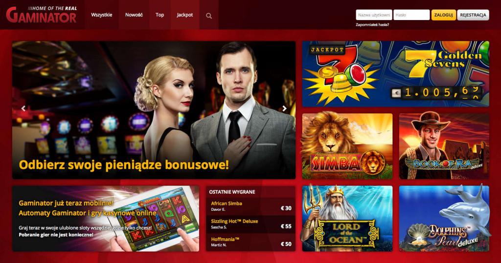 Automaty Gaminator i gry kasynowe online - Odbierz Bonusowe Pieniądze