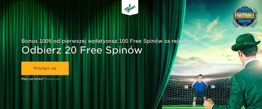 Odbierz Darmowe Spiny w Mr Green Casino od razu na start i to bez depozytu!