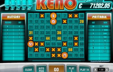 Zasady gry w Keno przez internet