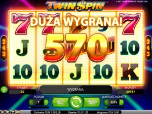 Zagraj na maszynie Twin Spin na Mr Green Casino za darmo bez rejestracji