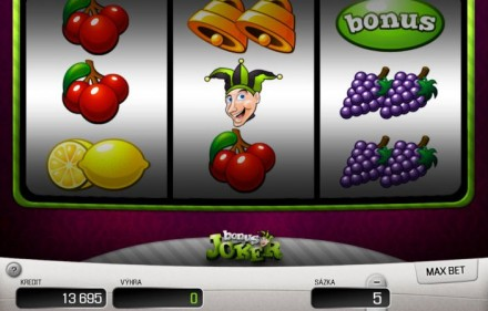 Bonus Joker Automat hazardowy do gry - Apollo Games Online