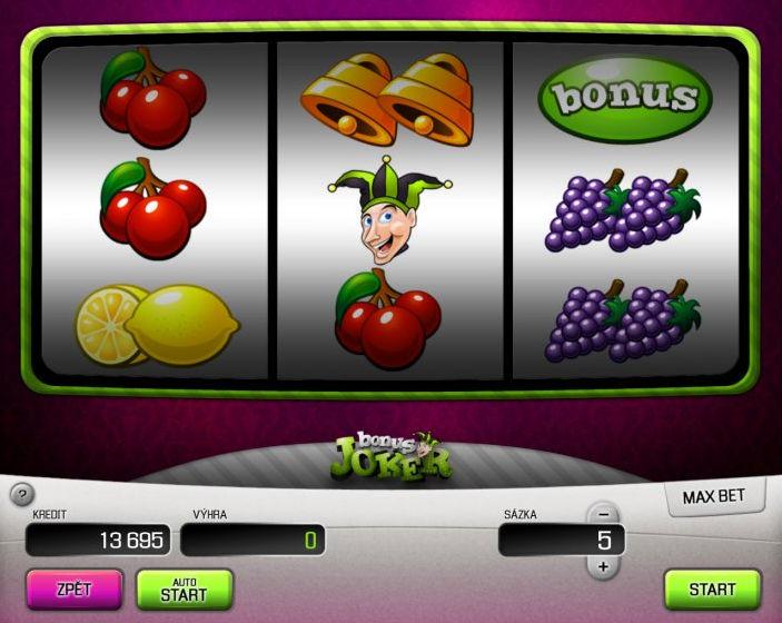 Bonus Joker Automat hazardowy do gry - Apollo Games Online