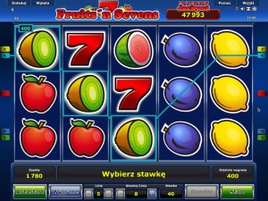 Automat do gry hazardowej Fruits'n Sevens online