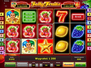 Automat owocowy Fruits z symbolem Joker