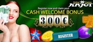 Odbierz bonus powitalny do €300 w kasynie internetowym Kajot