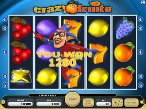 Zagraj w automat Crazy Fruits w Kasynie Kajot