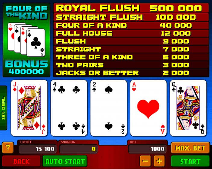 American Poker Automat Apollo Games - Maszyna Video