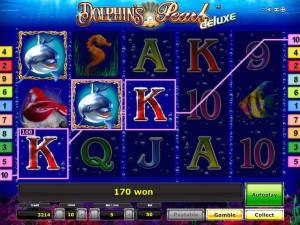 Zagraj na automacie Hotspot online w grę Dolphin's Pearl Deluxe