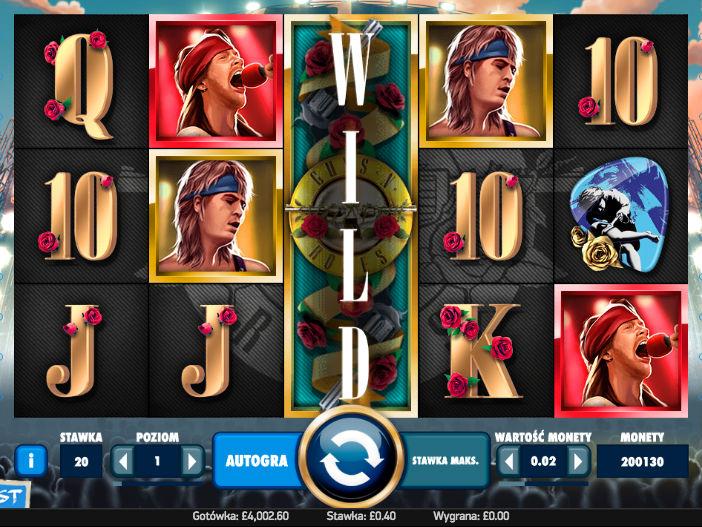 Zagraj na maszynie hazardowej do gry Guns'n Roses i wygraj prawdziwe pieniądze