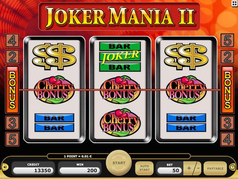 Zagraj na automacie Kajot online w Joker Mania II i wygraj prawdziwe pieniądze!
