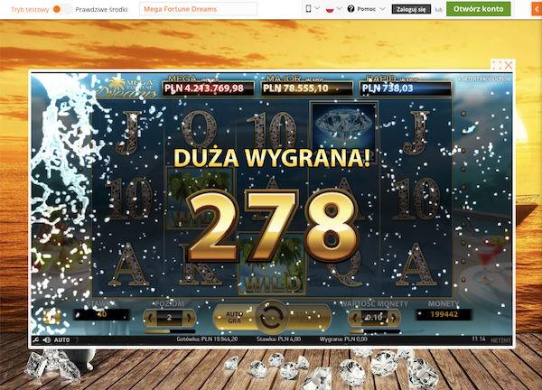 Darmowe Spiny na automacie Mega Fortuna Dreams