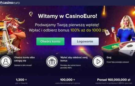 CasinoEuro Specjalna Oferta Powitalna