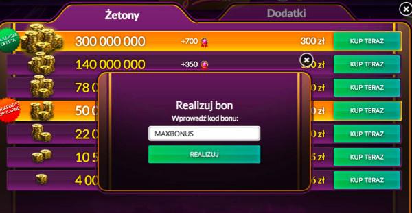 Kod Bonu Jackpot.pl - 3,25 mln żetonów za darmo bez depozytu na start